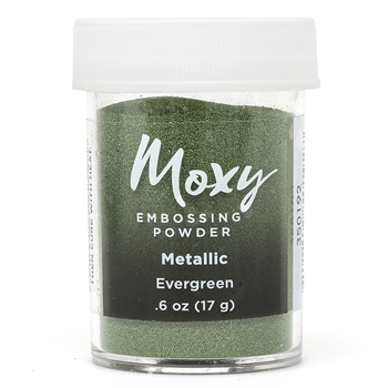 American Crafts EVERGREEN Metallic Moxy Embossing Powder 350192