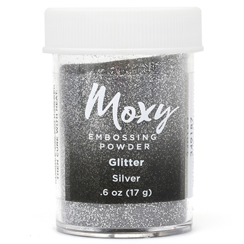 American Crafts SILVER Glitter Finish Moxy Embossing Powder 349187