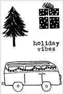 Flora and Fauna MINI HOLIDAY VAN Clear Stamps 20211