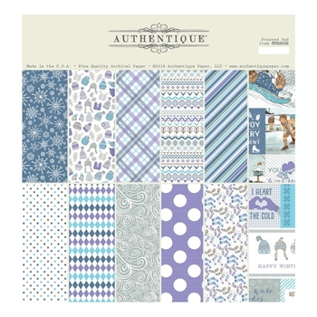 Authentique FROSTED 12 x 12 Paper Pad frs009