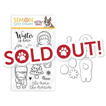 The Greeting Farm Clear Stamp and Die Set WINTER IS HERE SR18SETGF STAMPtember Exclusive