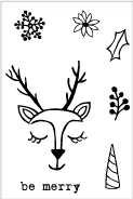 Flora and Fauna MINI REINDEER LOVE Clear Stamps 20209