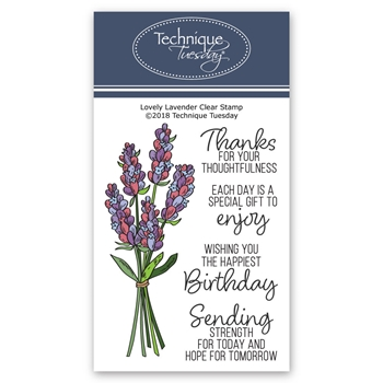 Technique Tuesday LOVELY LAVENDER Clear Stamps 02735