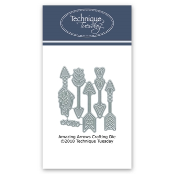 Technique Tuesday AMAZiNG ARROWS Crafting DIY Steel Dies 02736