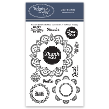 Technique Tuesday MANDALA SENTIMENTS Clear Stamps 02711