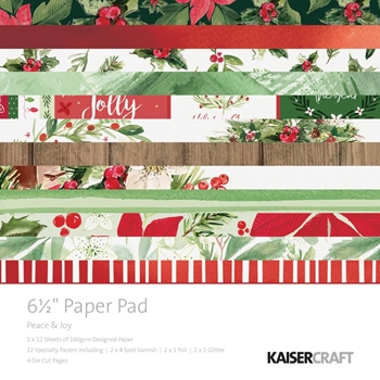 Kaisercraft PEACE AND JOY 6.5 Inch Paper Pad PP1052
