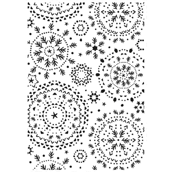 Kaisercraft SNOWFLAKES Embossing Folder 4x6 Inches EF290