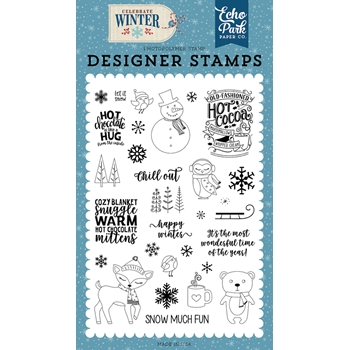 Echo Park HAPPY WINTER Clear Stamps cw162044