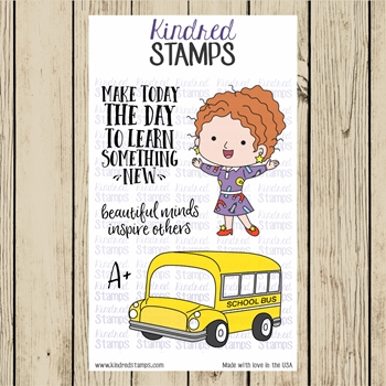 Kindred Stamps LEARNING IS AN ADVENTURE Clear Stamp Set ks2860