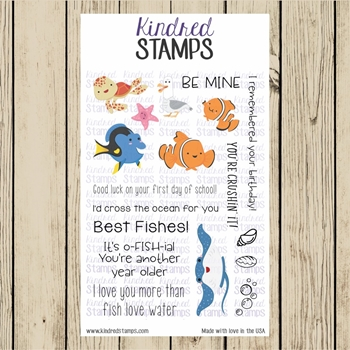 Kindred Stamps SEA FRIENDS Clear Stamp Set ks5260