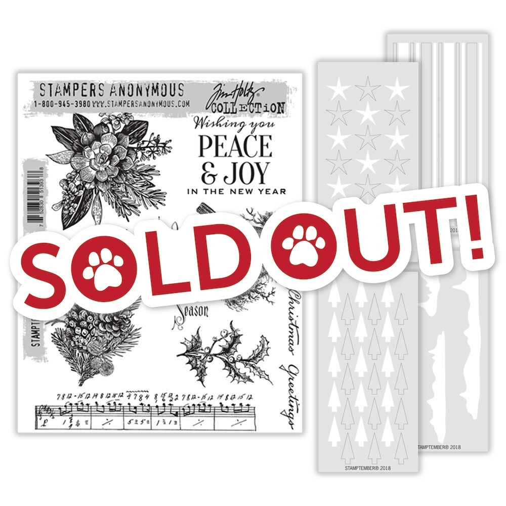 Tim Holtz STAMPTEMBER Exclusive Cling Rubber Stamps and Stencils 51393th zoom image