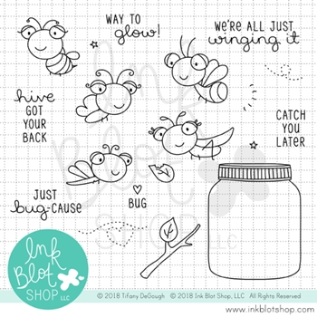 Ink Blot Shop Clear Stamp Set WINGING IT inbl049
