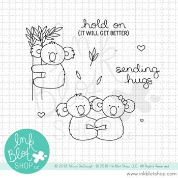 Ink Blot Shop Clear Stamp Set KOALA HUGS inbl050