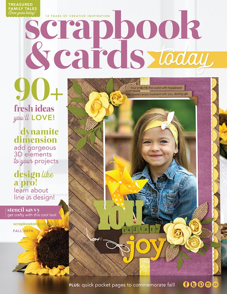 Scrapbook & Cards Today Magazine FALL 2018 Issue sctfe18 zoom image