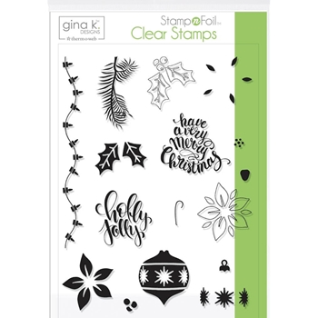 Therm O Web Gina K Designs HOLLY JOLLY Clear Stamps 18119