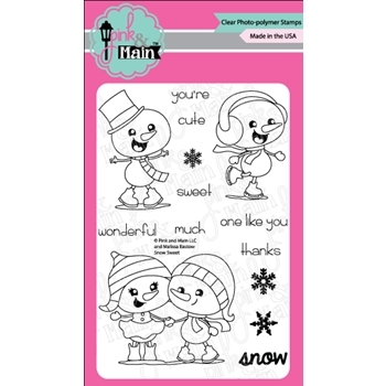 Pink and Main SNOW SWEET Clear Stamps PM0299