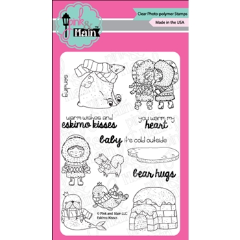 Pink and Main ESKIMO KISSES Clear Stamps PM0303
