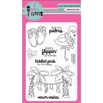 Pink and Main DECK THE PALMS Clear Stamps PM0300