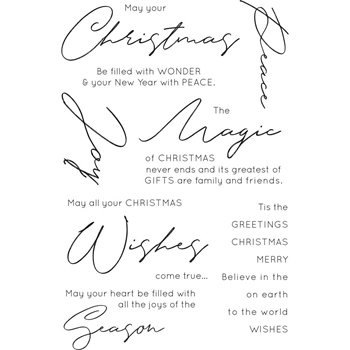 Kaisercraft CHRISTMAS WISHES Clear Stamps