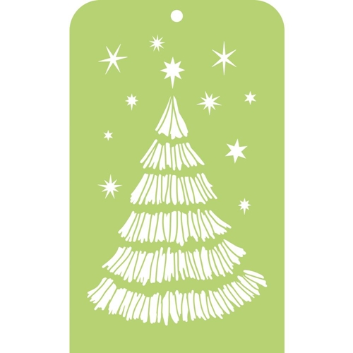 Kaisercraft CHRISTMAS TREE Mini Designer Stencil Template IT039 Preview Image Shadow