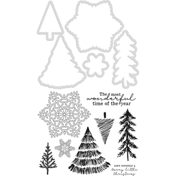 Kaisercraft NORDIC CHRISTMAS Clear Stamps and Die Set DD985