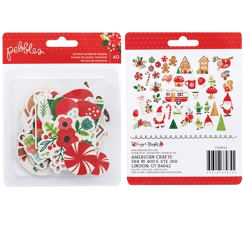 Pebbles Inc. ICONS COZY AND BRIGHT EPHEMERA Printed Cardstock Shapes 733934