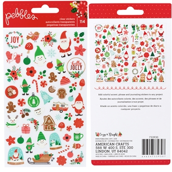 Pebbles Inc. MINI ICONS Cozy and Bright Clear Stickers 733930
