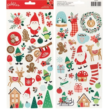 Pebbles Inc. ACCENT STICKERS Cozy and Bright 733929