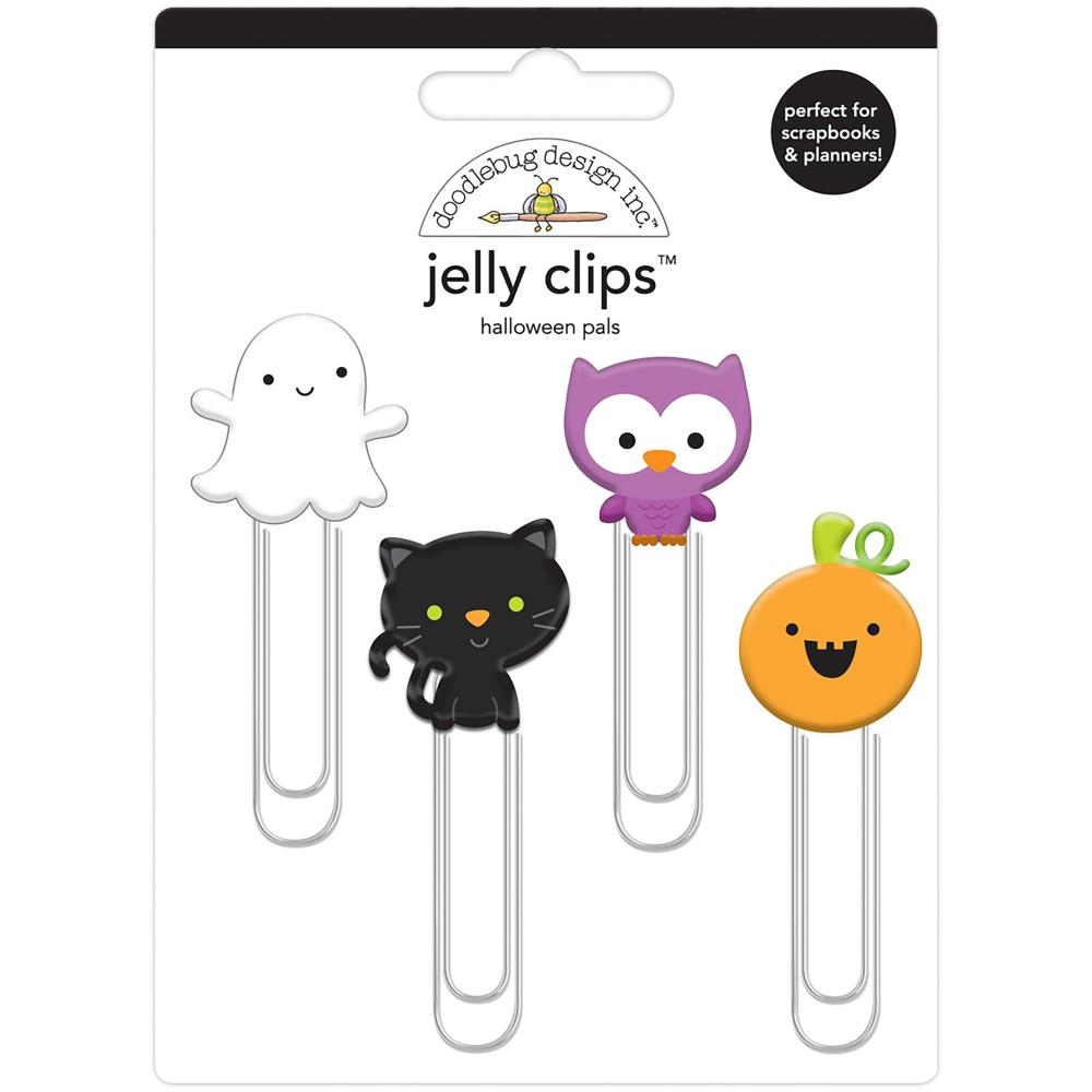 Doodlebug HALLOWEEN PALS Jelly Clips Paper Clip Pumpkin Party 6162 zoom image