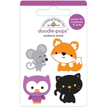 Doodlebug FOREST FRIENDS Doodle Pops 3D Stickers Pumpkin Party 6156