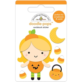 Doodlebug LITTLE PUMPKIN Doodle Pops 3D Stickers Party 6154