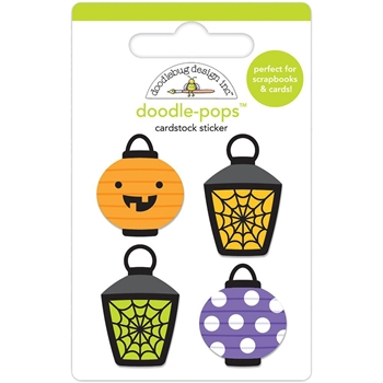 Doodlebug PARTY LIGHTS Doodle Pops 3D Stickers Pumpkin 6157