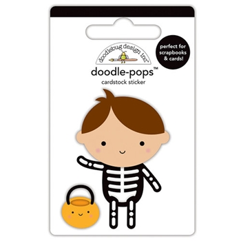 Doodlebug X-RAY Doodle Pops 3D Stickers Pumpkin Party 5757
