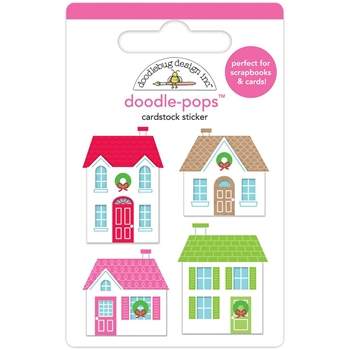 Doodlebug CHRISTMAS TOWN Doodle Pops 3D Stickers 6161