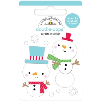 Doodlebug SNOW BUDDIES Doodle Pops 3D Stickers Christmas Town 6160