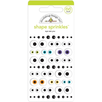 Doodlebug EYE SEE YOU Shape Sprinkles Pumpkin Party 6147