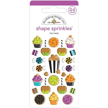 Doodlebug TINY TREATS Shape Sprinkles Pumpkin Party 6149