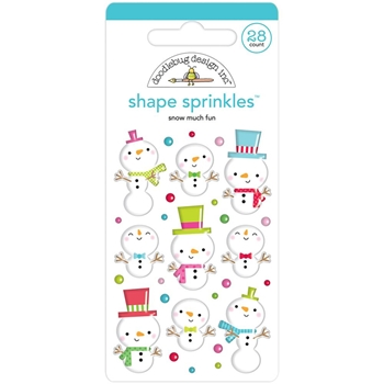 Doodlebug SNOW MUCH FUN Shape Sprinkles Christmas Town 6153