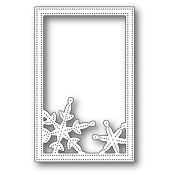Memory Box SIMPLE PINPOINT SNOWFLAKE FRAME POPPY STAMPS Craft Die 2106