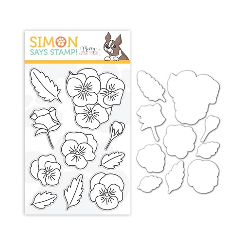 Pretty Pink Posh Clear Stamp and Die Set PANSIES SR18SETPPP STAMPtember Exclusive Preview Image
