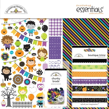 Doodlebug PUMPKIN PARTY 12x12 Essentials Page Kit 6180