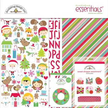 Doodlebug CHRISTMAS TOWN 12x12 Essentials Page Kit 6181