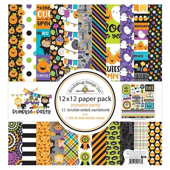 Doodlebug PUMPKIN PARTY 12x12 Inch Paper Pack 6178