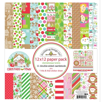 Doodlebug CHRISTMAS TOWN 12x12 Inch Paper Pack 6179