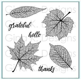 Gina K Designs SKELETON LEAVES Clear Stamps 3382