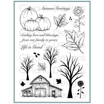 Gina K Designs RUSTIC AUTUMN Clear Stamps 3306