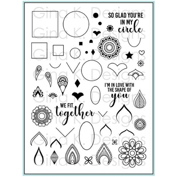 Gina K Designs MANDALA MAKER Clear Stamps 3337