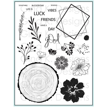 Gina K Designs SOMETHING GOOD IN EVERY DAY Clear Stamps 3313