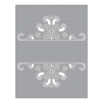 CEF-007 Spellbinders DOTTED LACE Cut and Emboss Folder