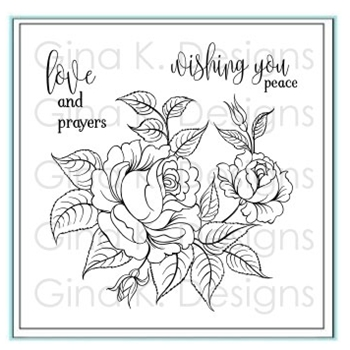 Gina K Designs PEACEFUL ROSES Clear Stamps 3504